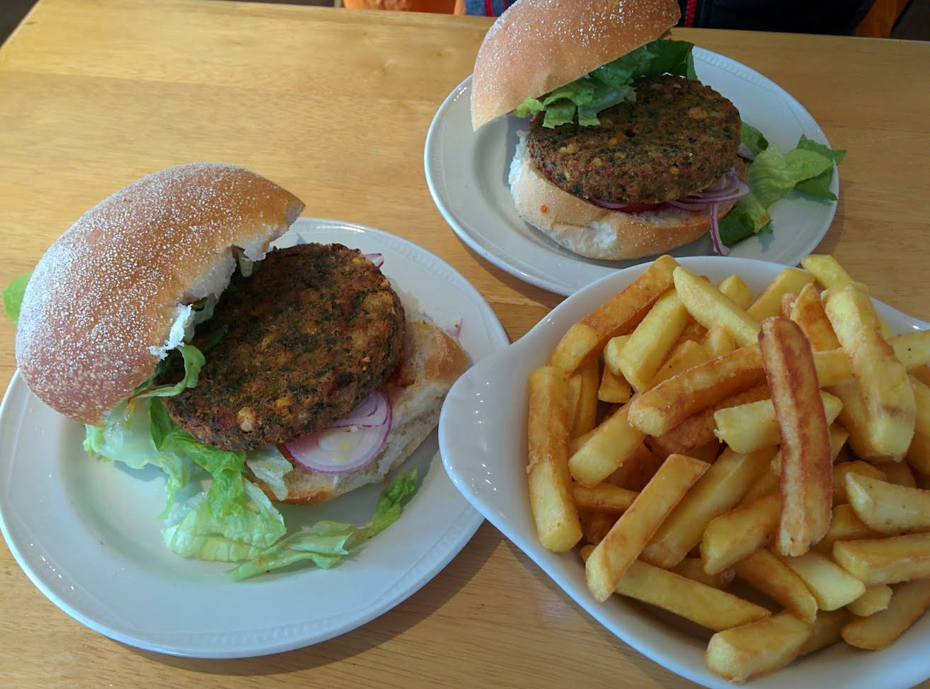 Coffee Pot falafel burger