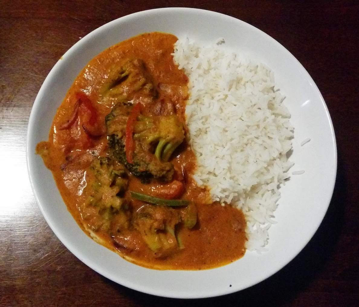 Vegan curry at Corrie Hotel