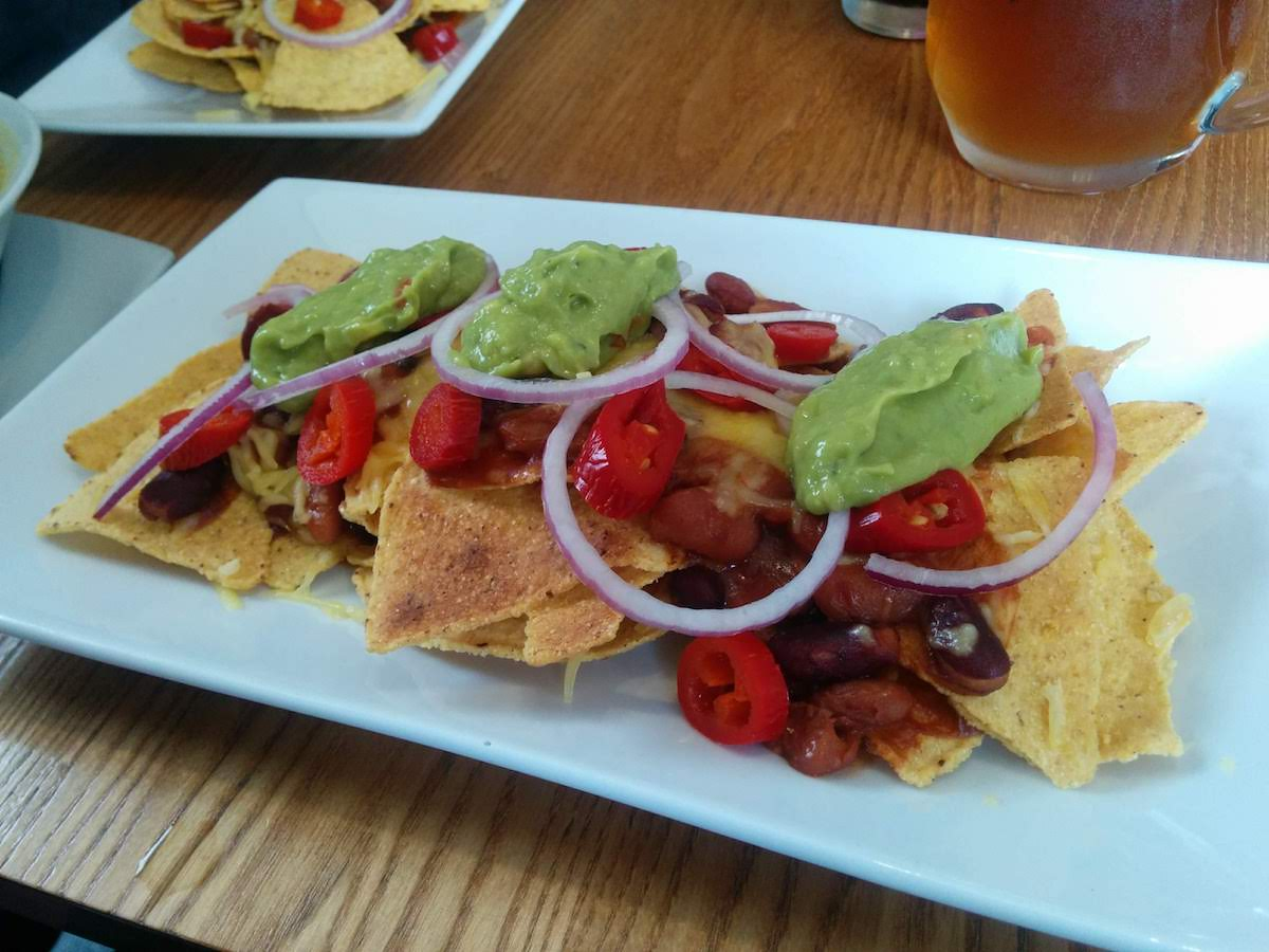 Vegan nachos at Crofters