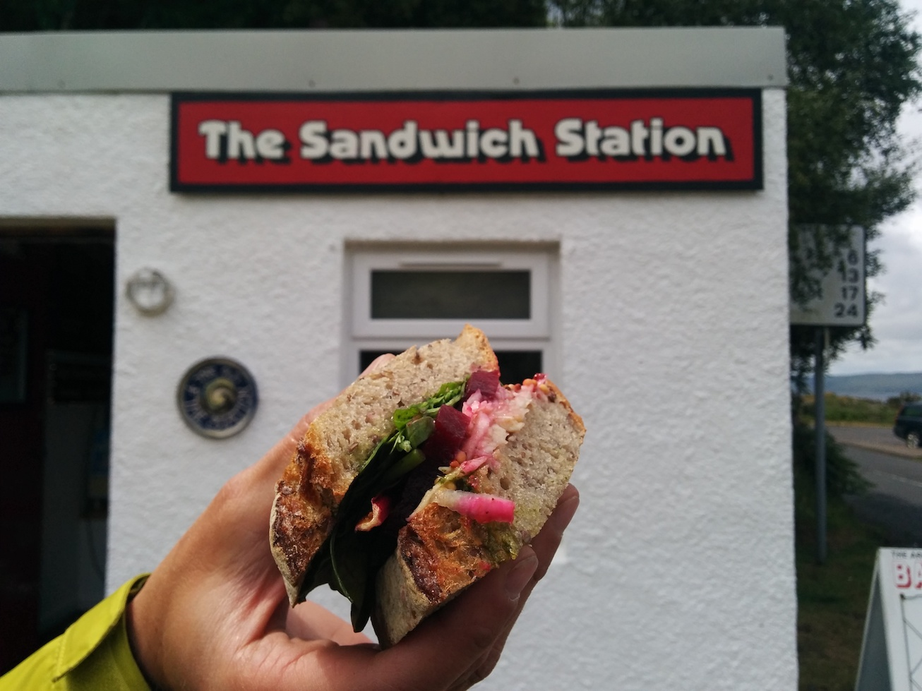 sandiwch at the sandwich station in lochranza