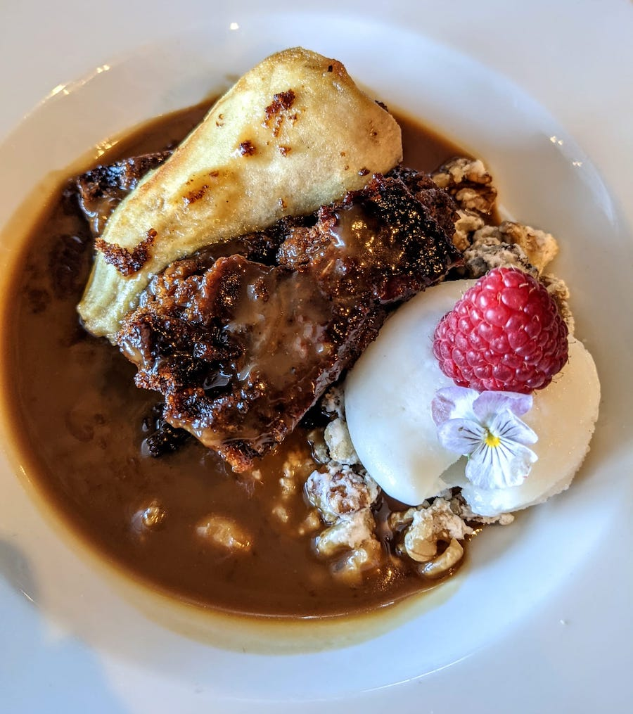 Sticky toffee pudding at the Drift Inn 2021