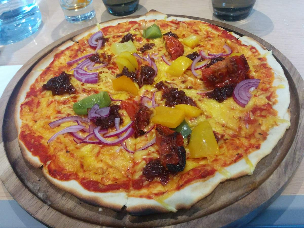 Vegan pizza at The Auchrannie