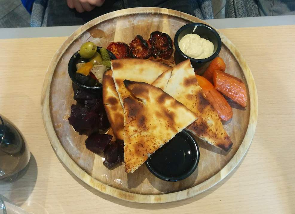 Vegan platter at The Auchrannie