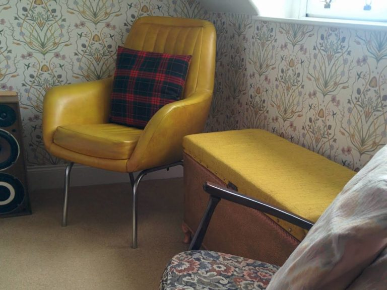 yellow chair in ferghan mhor